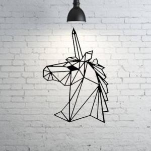 Decoración de pared – Unicornio Geometrico